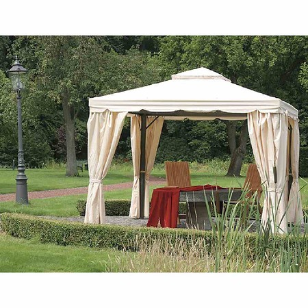 siena garden aluminium pavillon dubai 3x3 m anthrazit natur 100 polyester g nstig online. Black Bedroom Furniture Sets. Home Design Ideas