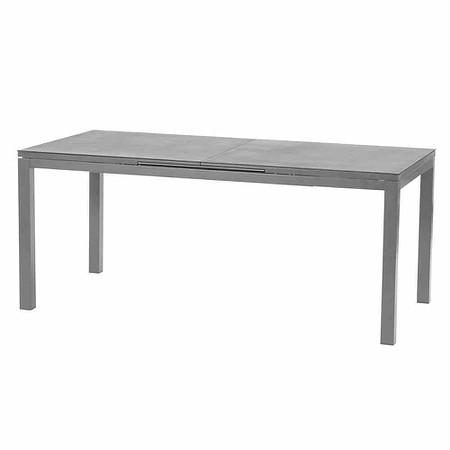 SIENA GARDEN Ausziehtisch Miros, Aluminiumrahmen + Tischplatte Spraysto