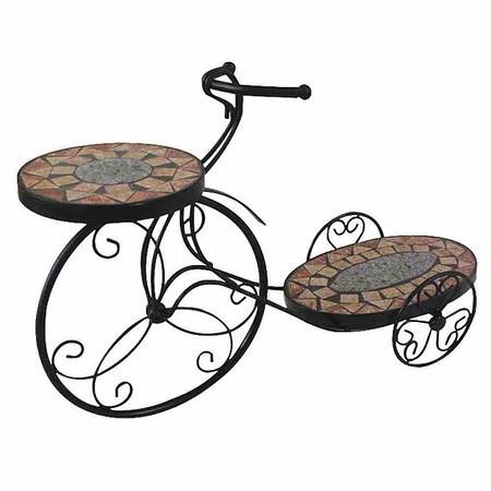 SIENA GARDEN Blumenständer Fahrrad Prato, Metall schwarz, Mosaik ...