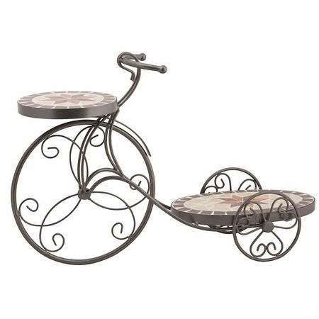 SIENA GARDEN Blumenständer Fahrrad Stella, Metall schwarz Mosaik ...