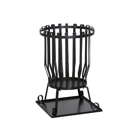 SIENA GARDEN Feuerkorb Druma, Stahl schwarz, inklusive Bodenplatte Ø 43x63cm