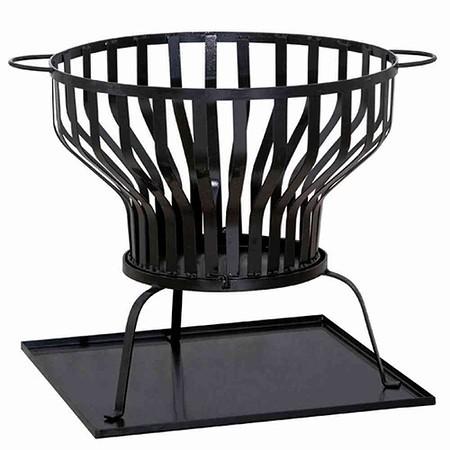 SIENA GARDEN Feuerkorb Tulpa, Stahl schwarz, inklusive Blech Ø 60x57cm