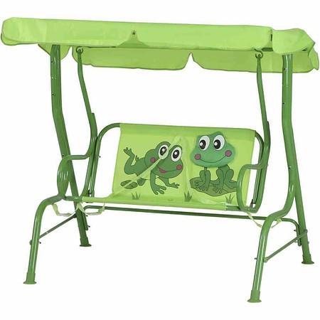SIENA GARDEN Froggy Kinderschaukel, Dach Polyester mit Froschmotiv