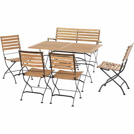 SIENA GARDEN Gartenmöbelset Aruba 6-teilig mit 2er Sitzbank