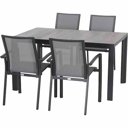 SIENA GARDEN Gartenmöbelset Java 5-teiligDinning Tisch groß