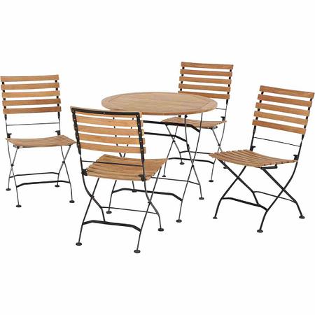 SIENA GARDEN Gartenmöbelset Merida 5-teilig mit rundem Tisch