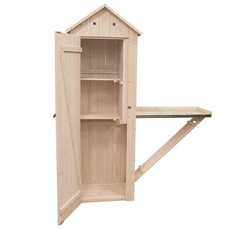 siena garden gartenschrank farbe grau wei 65x50x180cm mit klapptisch g nstig online kaufen. Black Bedroom Furniture Sets. Home Design Ideas