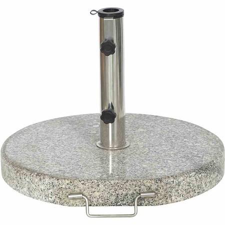 SIENA GARDEN Granitständer 30 kg, grau, rund mit Griff und Rollen