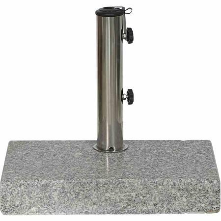 SIENA GARDEN Granitständer Balkon 25 kg, grau eckig