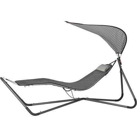siena garden h ngematte mit gestell dach stahl anthrazit bezug silber mix g nstig online. Black Bedroom Furniture Sets. Home Design Ideas