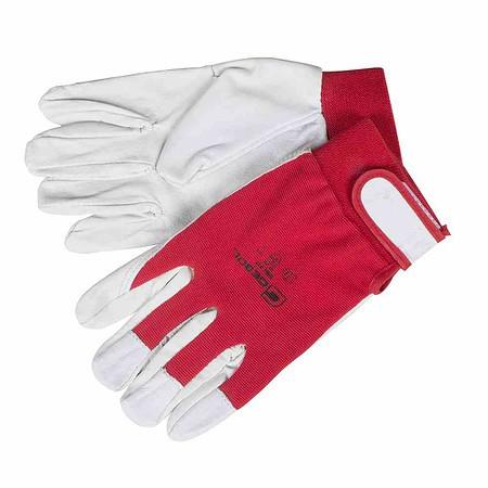 SIENA GARDEN Handschuh UniFit, Farbe: rot,Größe: L, Nappaleder/Spandex