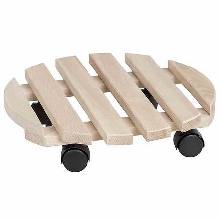 SIENA GARDEN Holz-Rolluntersetzer rund Buche, 6 x 2 Latten