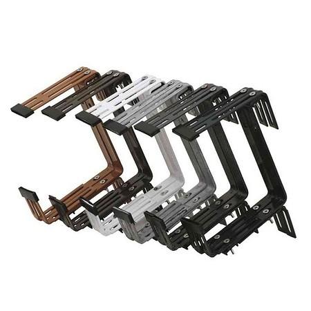 SIENA GARDEN Kastenhalter verzinkt 3-fach verstellbar, braun, montiert