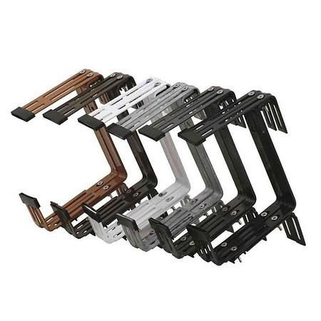 SIENA GARDEN Kastenhalter verzinkt 3-fach verstellbar, terra, montiert