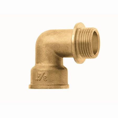 """SIENA GARDEN Messing Winkel 90°, 32mm (1¼"""") Innengewinde"""