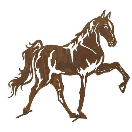 SIENA GARDEN Mustang Metall mit Edelrost, H60cm