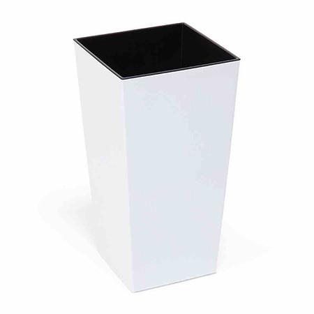 SIENA GARDEN Pflanzgefäß Lyon, Kunststoff weiß 25x25x46,5cm