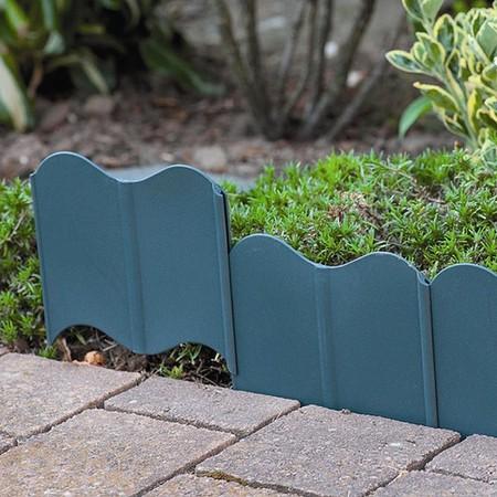 SIENA GARDEN Rasenkante Kunststoff 310cm 20-teilig, grün