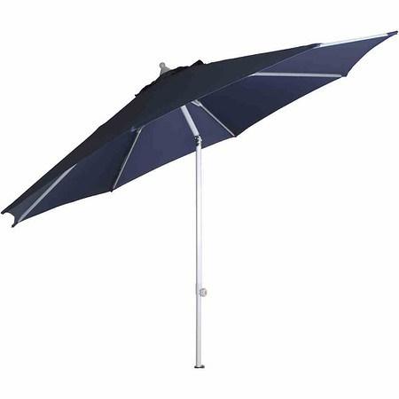 SIENA GARDEN Schirm PRO Push Ø 3 m, blau, Gestell silber, Polyester blau