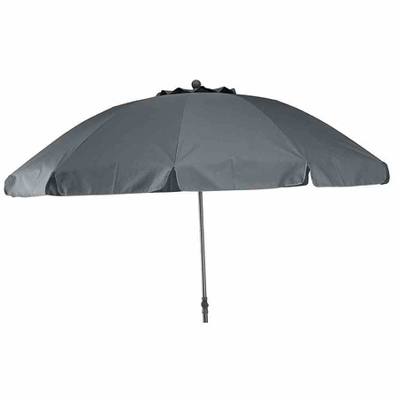 SIENA GARDEN Schirm Tropico Ø 250 cm, grau, Gestell anthrazit / Polyester grau UV