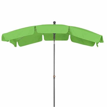 SIENA GARDEN Schirm Tropico 2,1x1,4 m, eckig, limette, Gestell anthrazit / Polyest