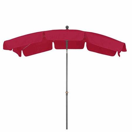 SIENA GARDEN Schirm Tropico 2,1x1,4 m, eckig, rot, Gestell anthrazit / Polyester r