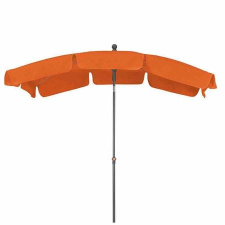 SIENA GARDEN Schirm Tropico 2,1x1,4 m, eckig, terracotta, Gestell anthrazit / Poly