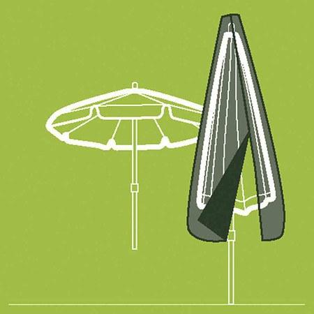 SIENA GARDEN Schirmhülle mit Reißverschlussbis 400 cm, Polyestergewebe Oxford 600,