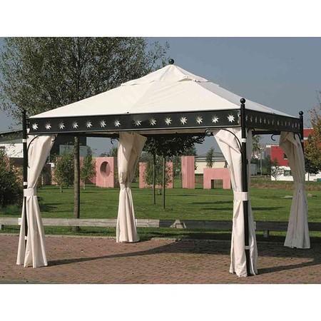 SIENA GARDEN Seitenteile Set natur, zu Pavillon Korfu, 100% Polyester/4 Stück