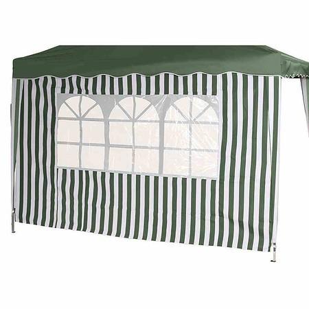 SIENA GARDEN Seitenteile zu Faltpavillon, grün/weiß, 2er Set, 1x mit und 1x ohne Fe