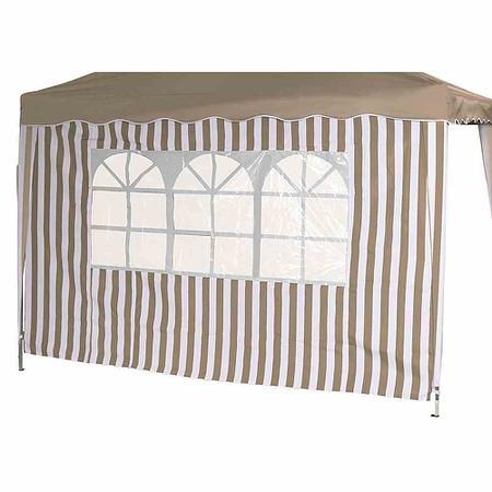SIENA GARDEN Seitenteile zu Faltpavillon, taupe/weiß, 2er Set, 1x mit und 1x ohne F