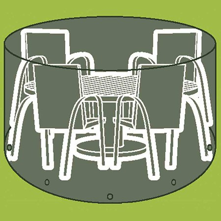 SIENA GARDEN Sitzgruppenhülle Ø 320 cm, PE-Flachgewebe, transparent, Ø 320 x H 96 c