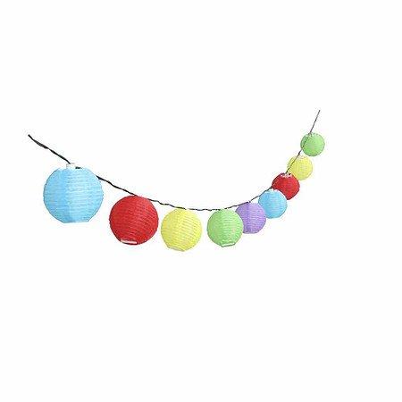 SIENA GARDEN Solar-Lichterkette 10er multicolor, Gesamtlänge: 4,8m