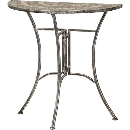 SIENA GARDEN Tisch Felina halbrund 70 cm Eisen mit Mosaikoptik
