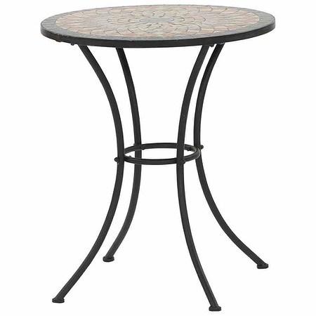 SIENA GARDEN Tisch Prato rund Ø 60 cm, Eisen mit Mosaikoptik