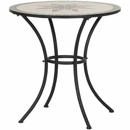 SIENA GARDEN Tisch Stella Ø 70 cm, rund, Gestell Eisen / Mosaik-Optik
