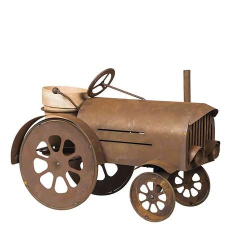 SIENA GARDEN Traktor, inklusive Blumentopf, Metall mit Edelrost, 60x42x30cm