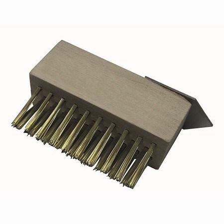 SIENA GARDEN Unkraut Fugenbürste Messing mit Stiel 1400 x 28mm incl Kratzaufsatz