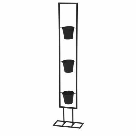 SIENA GARDEN Vertical Garden Pflanzhalter rechteckig, Metall schwarz matt,, inklusi