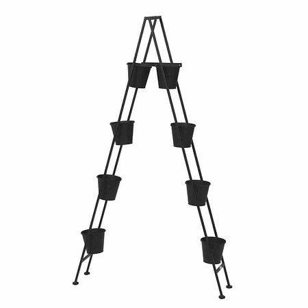 SIENA GARDEN Vertical Garden Pflanzleiter,Metall schwarz matt,, inklusive 8 Töpfen