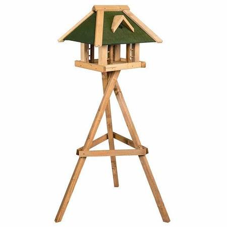 SIENA GARDEN Vogelfutterhaus Grünfink mit Ständer, Maße: 51x36x37cm