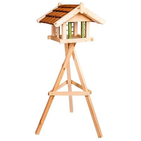SIENA GARDEN Vogelfutterhaus Jessica mit Ständer, Maße: 52x56x40cm