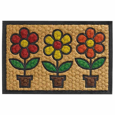 "SIENA HOME Fußmatte ""Potted Flowers"" 40 x 60 cm"