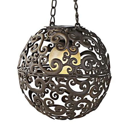 Solarleuchte Moon Braun/Bronze