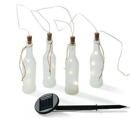 Solarleuchten-Set, 4-tlg. Bottles