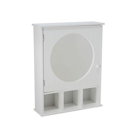 Spiegelschrank rund Weiß