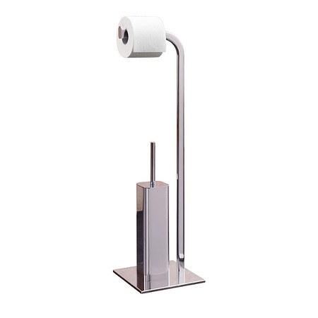 Stand WC-Garnitur Chrome Silberfarben