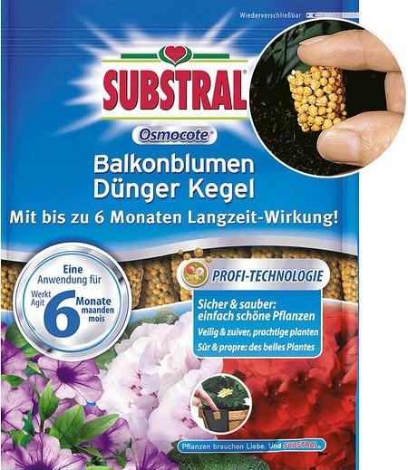 Substral SUBSTRAL® Osmocote® Langzeit Dünge-Kegel,25 Stück