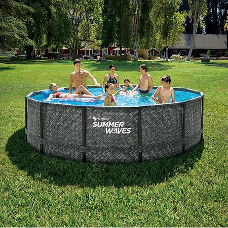Summer Waves Elite Poolrattan braun