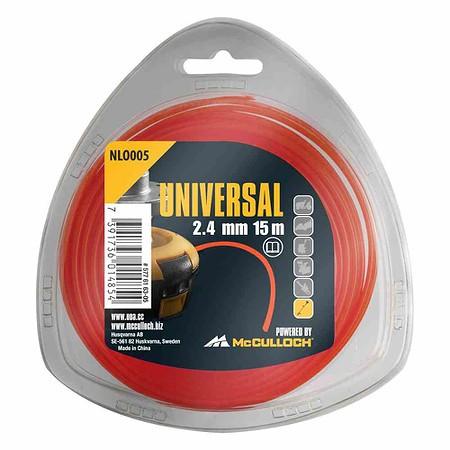 UNIVERSAL Trimmerfaden Nylon 15m NL001,, 1,3mm weiß